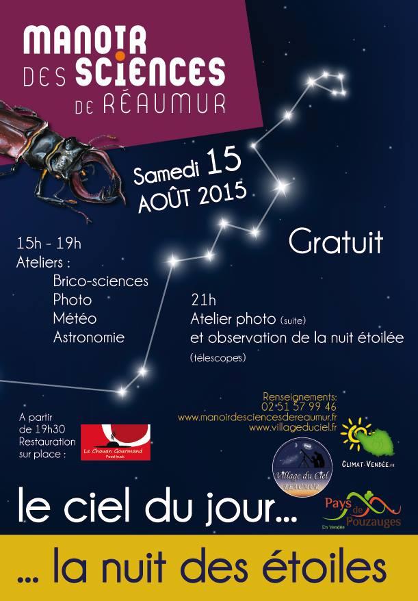 Affiche Nuit des Etoiles 2015