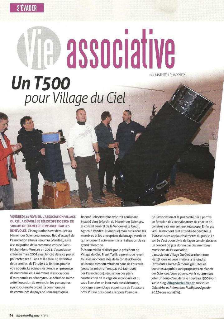M5- Un T500 pour Village Du Ciel - Astro Mag - Avril 2012